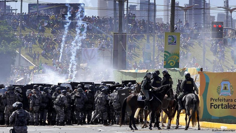 Repressão em Fortaleza.